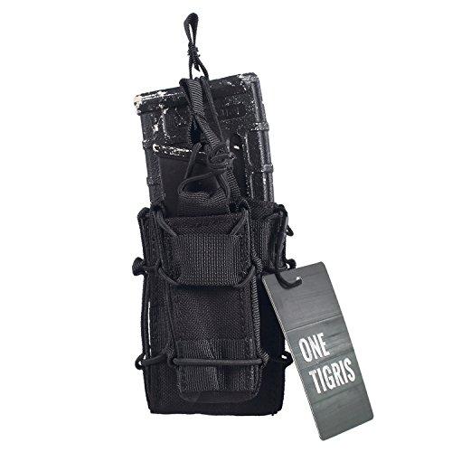 OneTigris Tactical MOLLE Magzine Pouch AR M4 M16 & Pistol Magazine Holder (System M4 Double Mag Pouch)