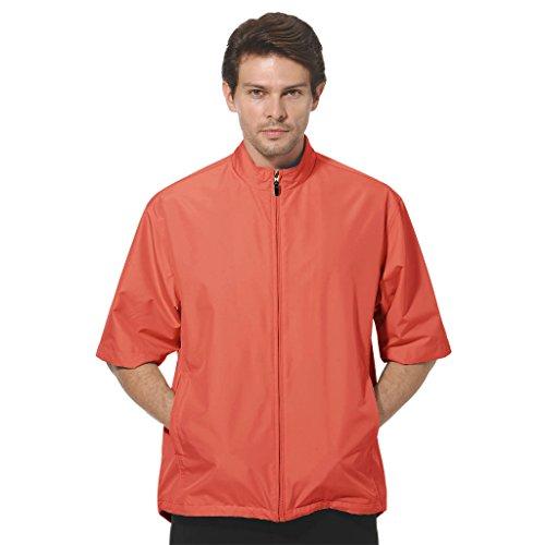 ightweight Microfiber Half Sleeve Zip Front Windshirt #1793 (Salmon Pink, 3X-Large) (Half Sleeve Windshirt)
