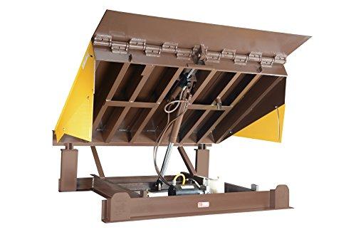 Vestil-EH-66-25-Dock-Leveler-Electric-Hydraulic-25000-lb-Capacity-6-x-6-Silver