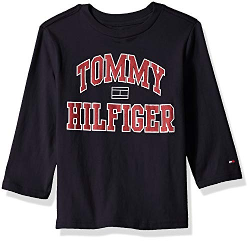 Tommy Hilfiger Toddler Boys' Dustin-Bex Jersey Long Sleeve Tee, The Swim Navy, 4T