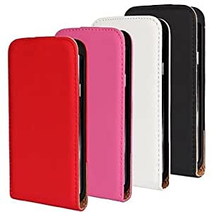 ZXC Solid Color Light Surface PU Leather Full Body Case for Samsung Galaxy S5 I9600 (Assorted Colors) , Black