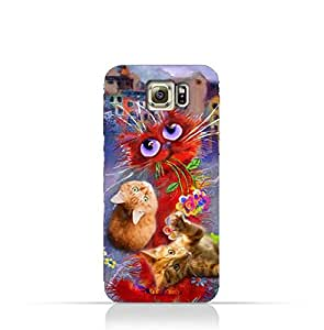 Samsung Galaxy S6 TPU Protective Silicone Case with Adorable Cute Cats Design