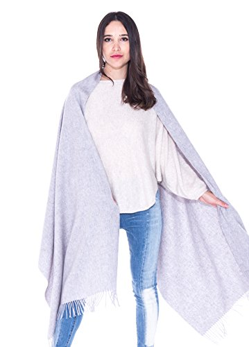 LEBAC 100% Cashmere Wrap Shawl Stole With Fringes - Extra Large Super Warm by LEBAC