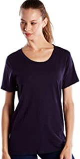 product image for US Blanks US115 Women's' Short-Sleeve Loose Fit Boyfriend Tee Midnight Medium