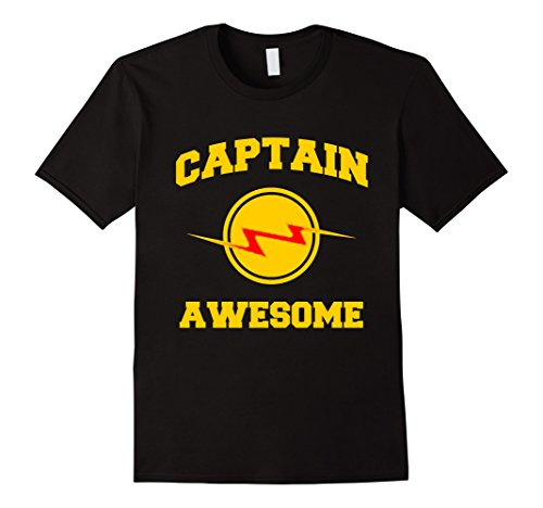 Mens Captain Awesome Superhero Costume T-Shirt Large (Awesome Costumes For Men)