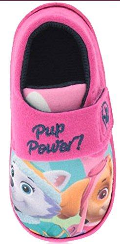 New Girls UK 5 Klettverschluss Patrol Mit Character Hausschuhe GRÖßEN Paw 10 Pink BBHnf1r