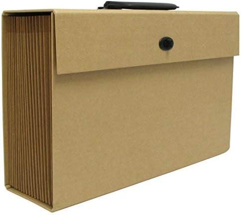 Caja de archivo desplegable de papel kraft: Amazon.es: Oficina y papelería