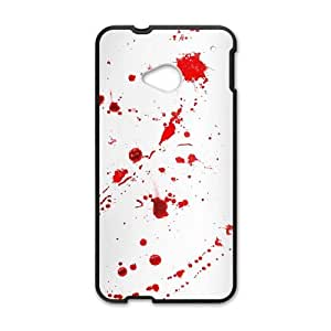 HTC One M7 Cell Phone Case Black Dexter Blood RSG Personalised Phone Cover
