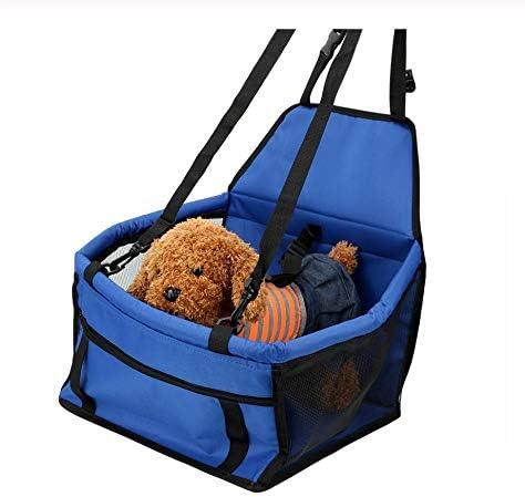 Hh Viaje Perro Coche Asiento Cubierta De Seguridad Perro Cesta Mascota Cachorro Carriera Bolsa para Gatos Cachorro Que Transporta Plegable Hamaca Accesorios para Perros 40 * 30 * 25 Cm: Amazon.es: Productos para mascotas
