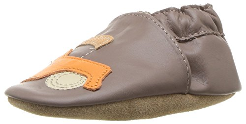 Robeez Boys' Elephant Eddie Crib Shoe, Life is an Adventure-Espresso, 0-6 Months M US Infant (Leather Soft Boys)