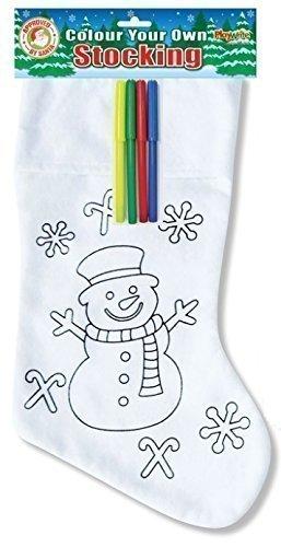 Muñeco De Nieve Color Su Propio Calcetines Navidad & Fieltro Para Colorear Bolígrafos Infantil Personalizado Diseño