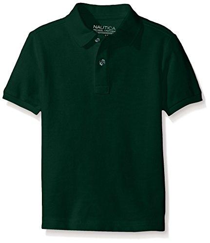 - Nautica Husky Boys' Uniform Short Sleeve Pique Polo, Hunter, XX-Large/Husky