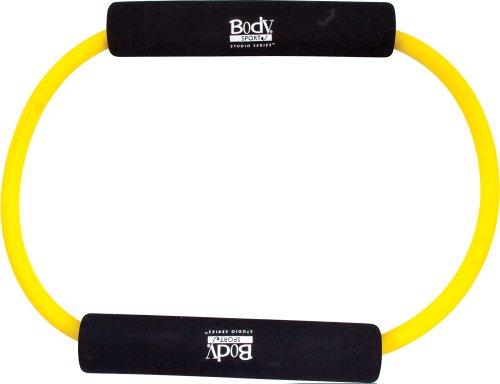 Body Sport Medium Resistance Loop Tubing with Foam Pads, Yel