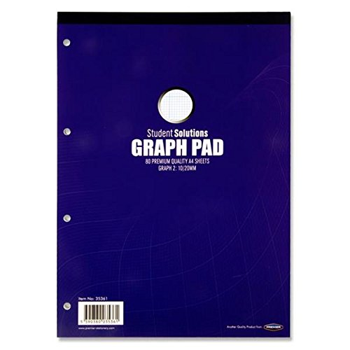 Premier Stationery S2835361 A4 Student Solutions Graph Pad