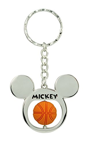 Disney Mickey Mouse Basketball Spinner Pewter Key Ring Key Accessory