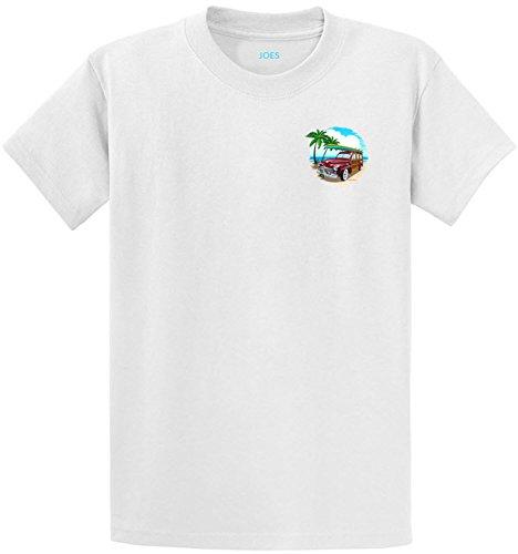 Joe's Surf Woody Logo Heavyweight Cotton T-Shirt-White/c-M ()