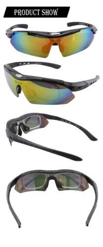 polarizzati nero Duco 5 professionali per Sport Occhiali da con Uv400 Sp0868 sole ciclismo Telaio all'aria aperta occhiali intercambiabili ZxqCEw4