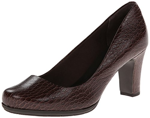 Total Motion Coach Pump Rockport Emboss Croco Women's EqUI5
