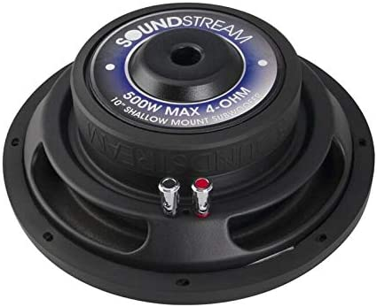 Soundstream PSW.104 Picasso Series 10/″ 500W Shallow Subwoofer