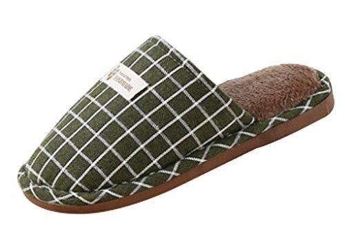 Pantofole Da Donna Cattior Foderate Pantofole Pelose Calde Verde Casa Pantofole