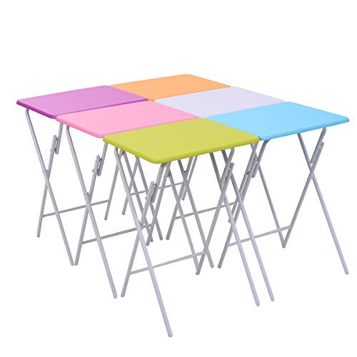 Giantex Folding Table Multicolor Serving
