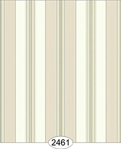 Dollhouse Wallpaper Cozy Cottage Stripe Cream with Beige   B01N33TA5T