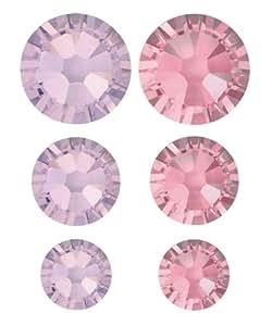 Swarovski 90piezas Flatback cristales Value Pack, morado y rosa por crear su estilo