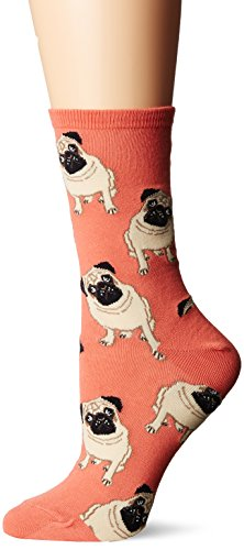 Socksmith Women's Pugs Peach One Size