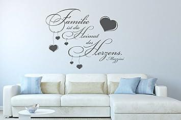Wandtattoo Familie Ist Die Heimat Des Herzens Nr 1 Wohnzimmer Wandsprüche  Mit Herzen Wanddeko Dekoideen Schlafzimmer