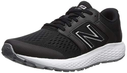 - New Balance Women's 520v5 Cushioning Running Shoe, Black/White, 8 B US