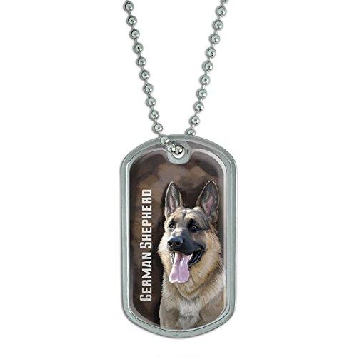German Shepherd Background Military Keychain