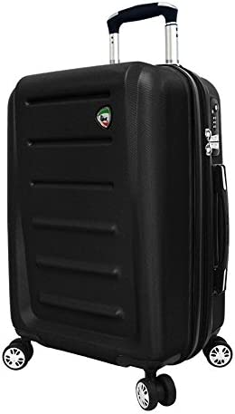 Mia Toro Carriera Hard Side Spinner Luggage Carry-on Black