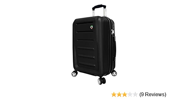 8e7e7d7df Amazon.com | Mia Toro Moderno Hardside 24 Inch Spinner, Black, One Size |  Luggage