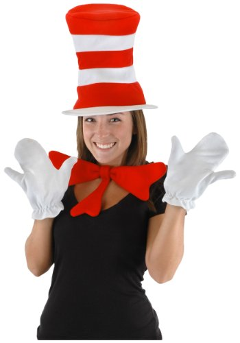 Cat Costume Accessory Kit (Dr. Seuss Cat in the Hat Adult Accessory Kit by elope)