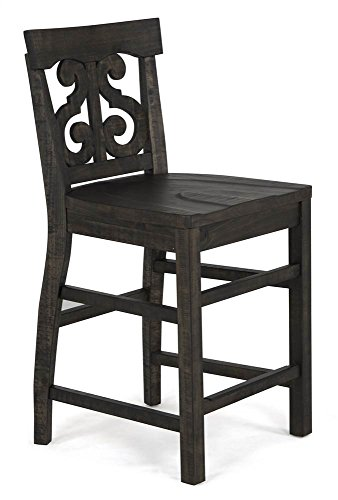 - Counter Height Desk Chair in Distressed Weathered Peppercorn