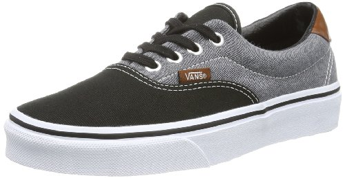 discount from china top quality online Vans Unisex Adults' U ERA 59 (CANVAS CHAMB Low Black - Weiß ((Canvas Chamb) discount best prices 7XVt0Pd