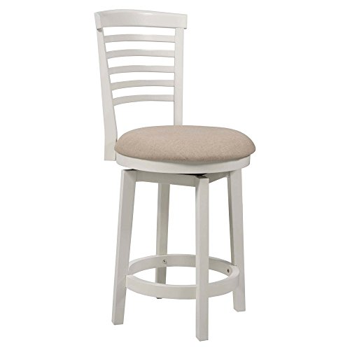 Powell Furniture Big Wide Counter Stool Tall White