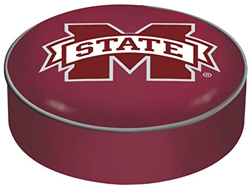 Mississippi State Bulldogs HBS Red Vinyl Slip Over Bar Stool Seat Cushion Cover