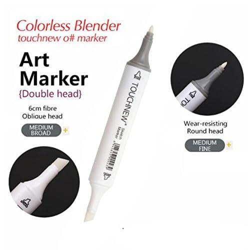 2pcs 0# Incolore blender marqueur Encre à base d'alcool à tête double Sketch Ensemble de marqueur pour l'artiste Manga Peinture blender Fournitures