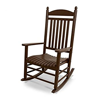 POLYWOOD Outdoor Furniture Jefferson Rocker, Mahogany Recycled Plastic  Materials Part 34