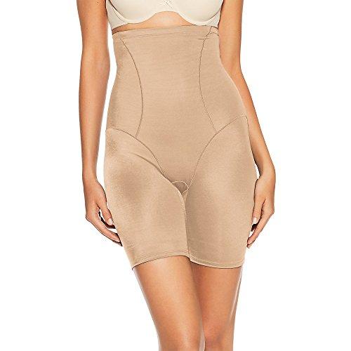 Bali Women's Shapewear Cool Comfort Hi-Waist Thigh Slimmer, Nude, Medium