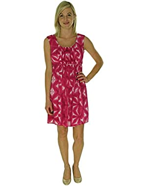 Womens Sleeveless Fit & Flare Printed Dress CD5H9H2P
