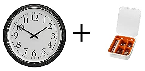 IKEA reloj de pared, negro y IKEA 116-piece imagen gancho Set: Amazon.es: Hogar