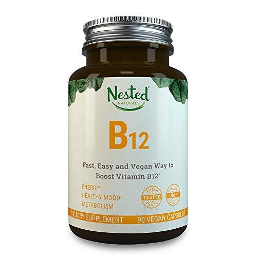 Vitamin B12 Vegan Supplement | 2500mcg Methylcobalamin | Boost Energy + Supplement B 12 Deficiency in Men & Women | Methyl VIT B12 Chewable Tablet Vitamins
