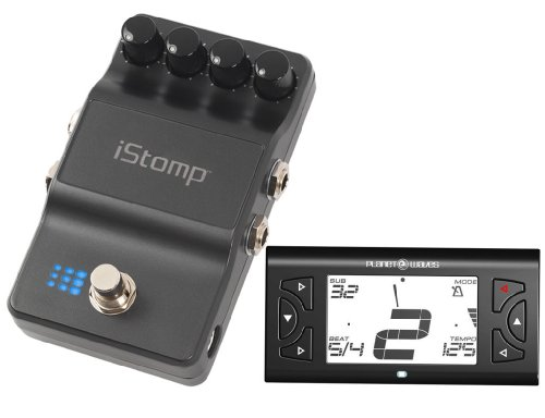 Digitech iStomp Stompbox With Planet Waves PW-CT-08 Metronome Guitar Tuner