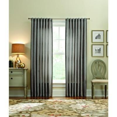 (Zinc Thermal Tweed Back Tab Curtain - 50 in. W x 84 in. L )