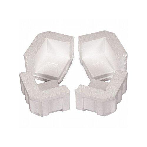 Box Packaging Foam Corner, 4 3/4'' x 4'' x 3 1/4'' - Case of 320 by Box Packaging
