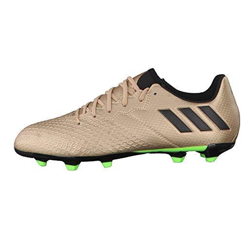 Adidas messi 16.3FG J–Chaussures montantes de football ligne messipara enfants, bronze–(cobmet/negbas/versol), 28