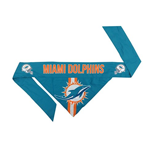 Small Dolphins Miami Dolphins (NFL Miami Dolphins Pet Bandanna, Small)