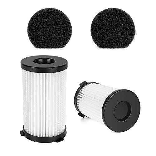 MOOSOO 2 HEPA and 2 Sponge Filter for D600 Corded Vacuum Cleaner